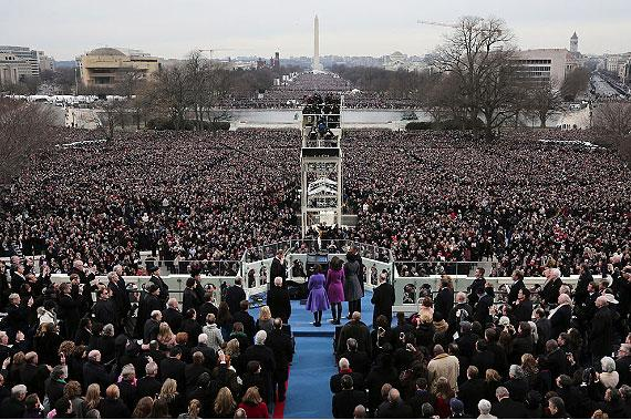 نماد شیطان در مراسم تحلیف اوباما (ژانویه 2013)